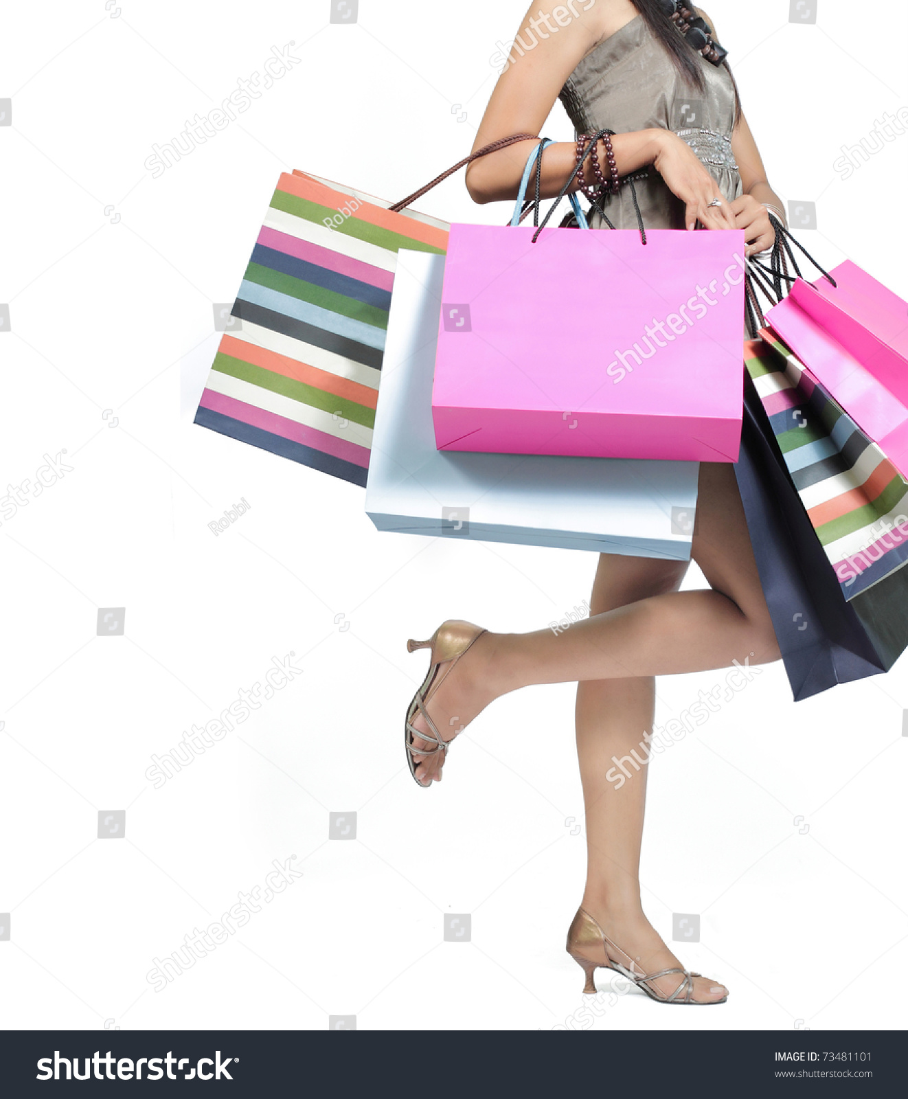 Beautiful Woman Shopping Bags Stock Photo 73481101 - Shutterstock