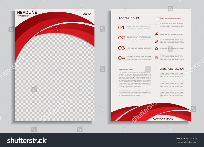 Red Brochure Template Stock Vector 734841061 - Shutterstock