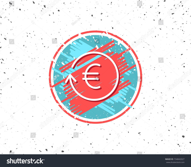 Grunge button symbol euro money exchange stock vector 734842027 grunge button with symbol euro money exchange line icon banking currency sign eur buycottarizona Gallery