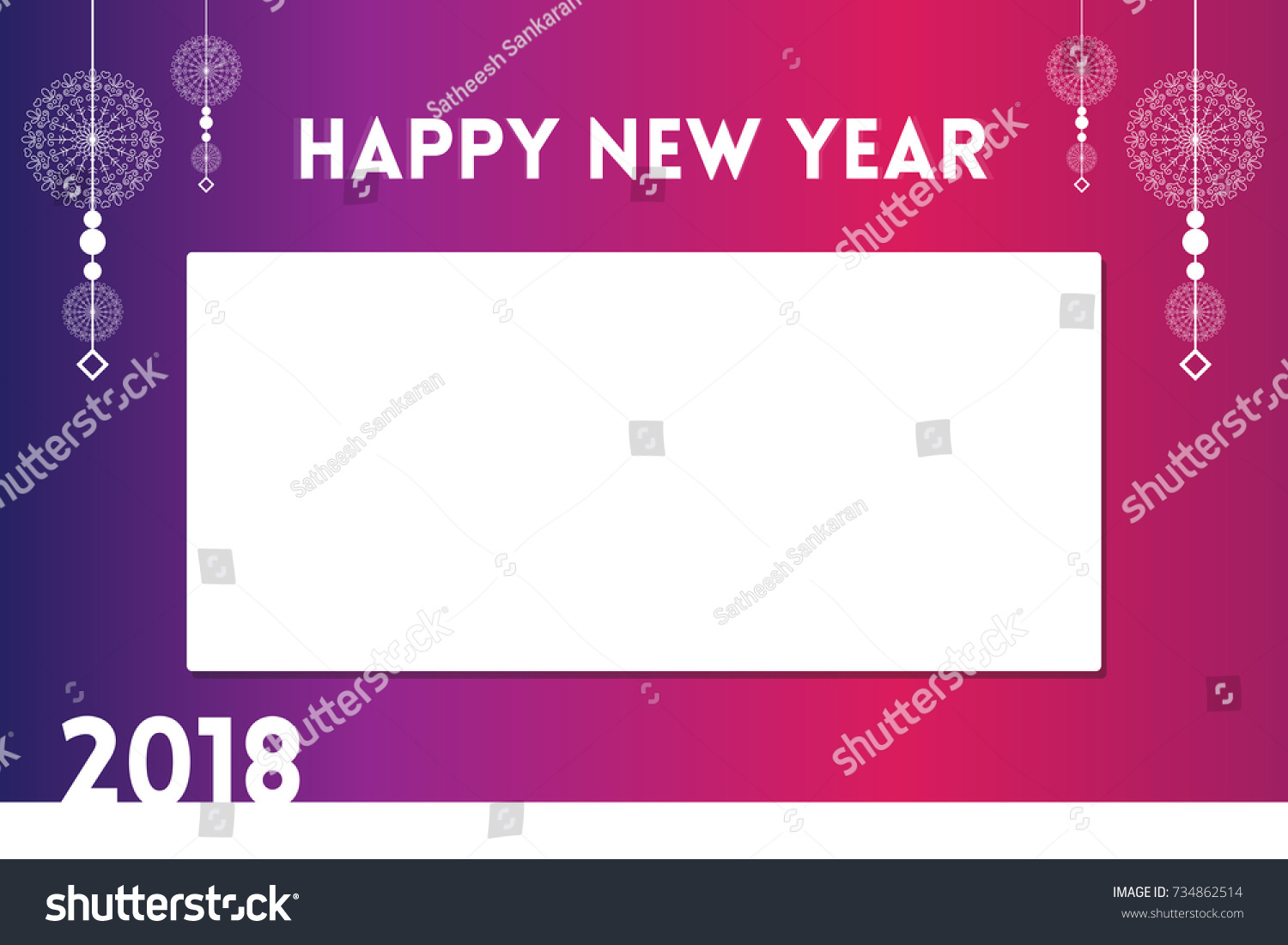Creative elegant happy new year greetings stock vector 734862514 creative and elegant happy new year greetings for the year 2018 with place for text kristyandbryce Choice Image