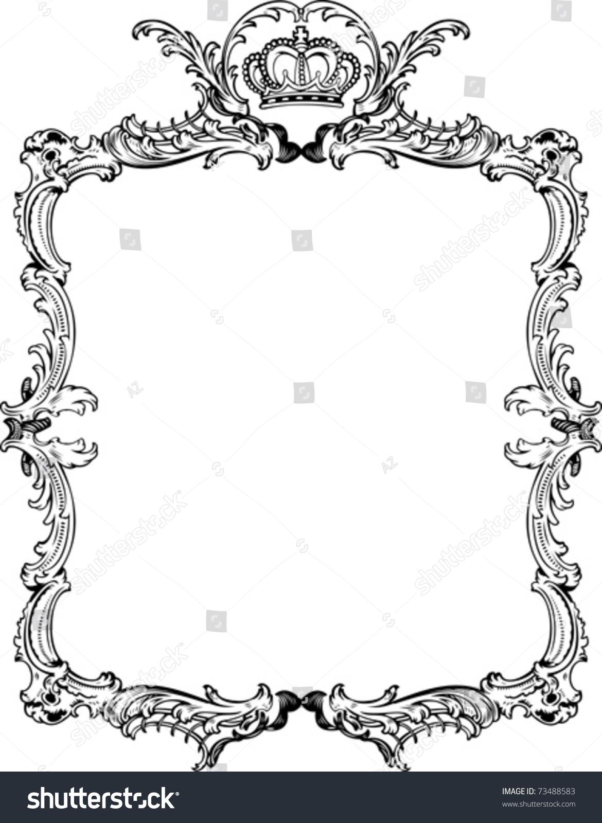 decorative vintage ornate frame vector illustration stock vector
