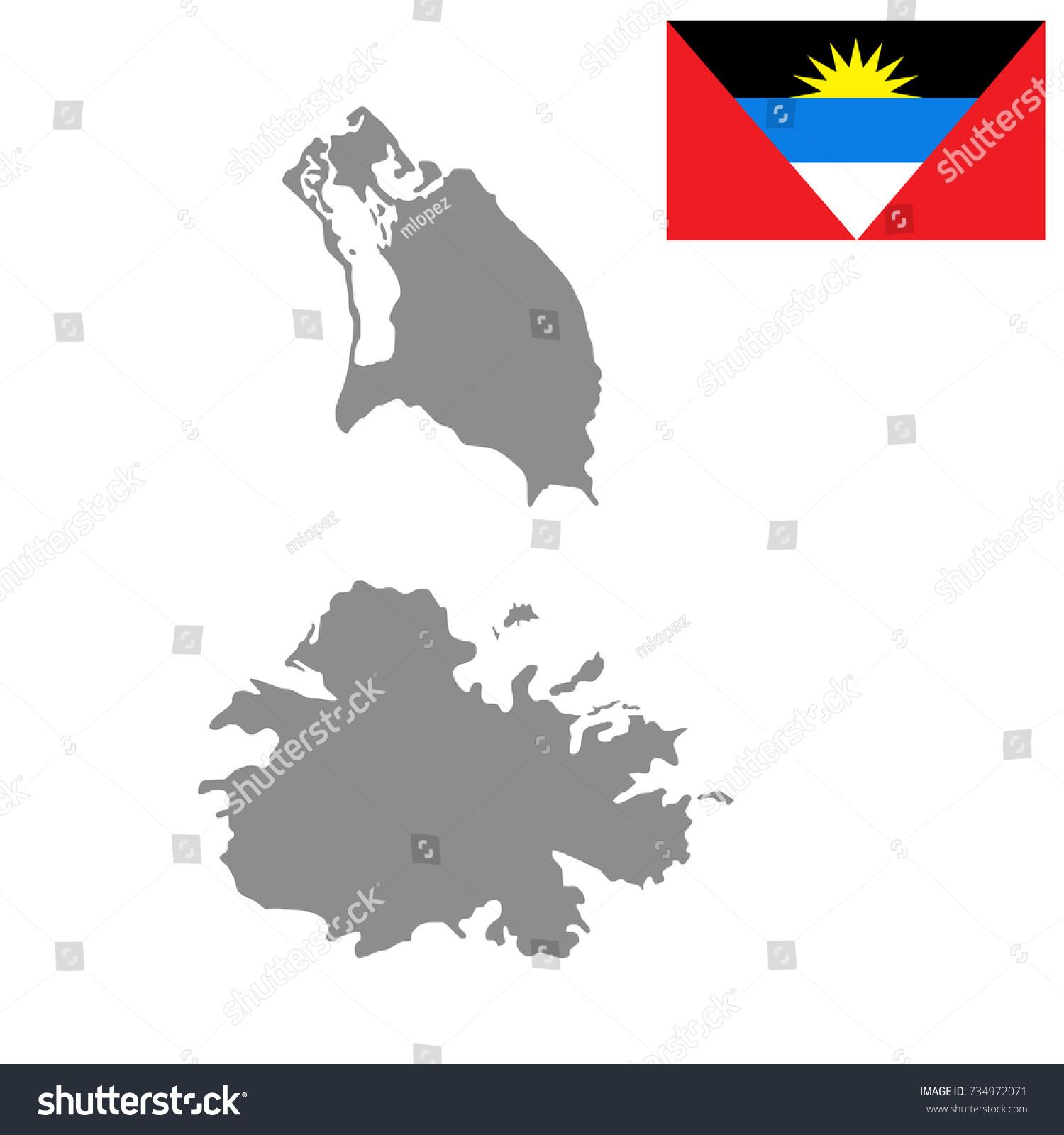 Antigua Barbuda Map Flag High Detailed Stock Vector (Royalty Free ...