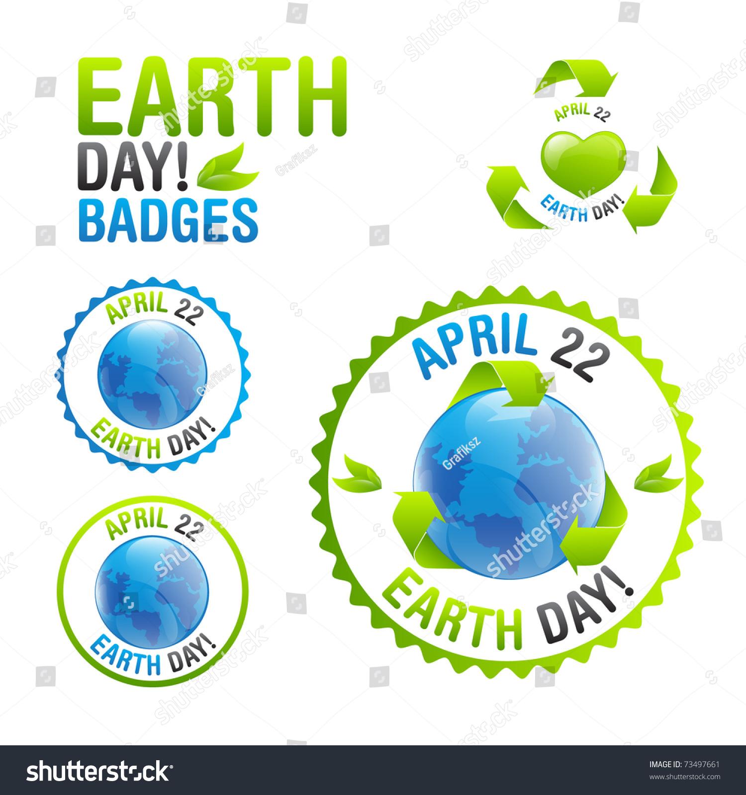 earth day badge set stock vector 73497661 shutterstock