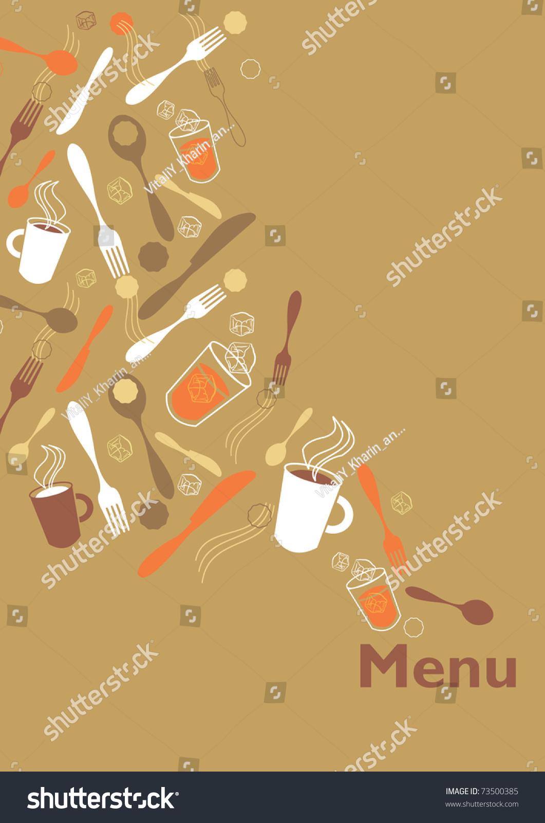 cafe breakfast menu background stock vector illustration