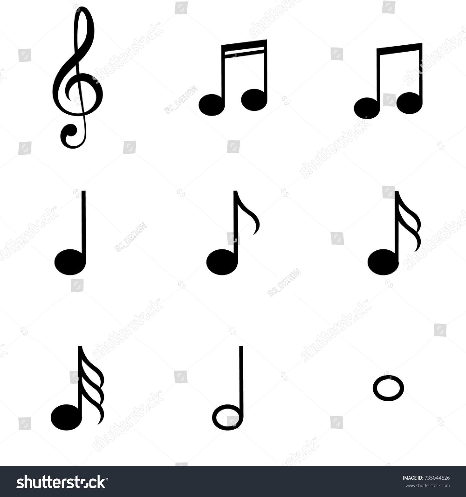 Music notes symbols set stock vector 735044626 shutterstock music notes symbols set buycottarizona