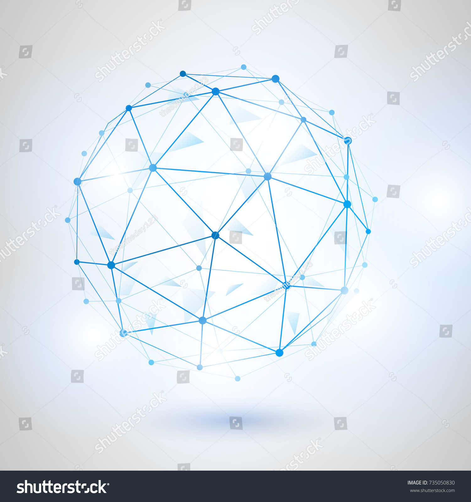 Wire Frame 3 D Mesh Polygonal Vector Stock-Vektorgrafik (Lizenzfrei ...