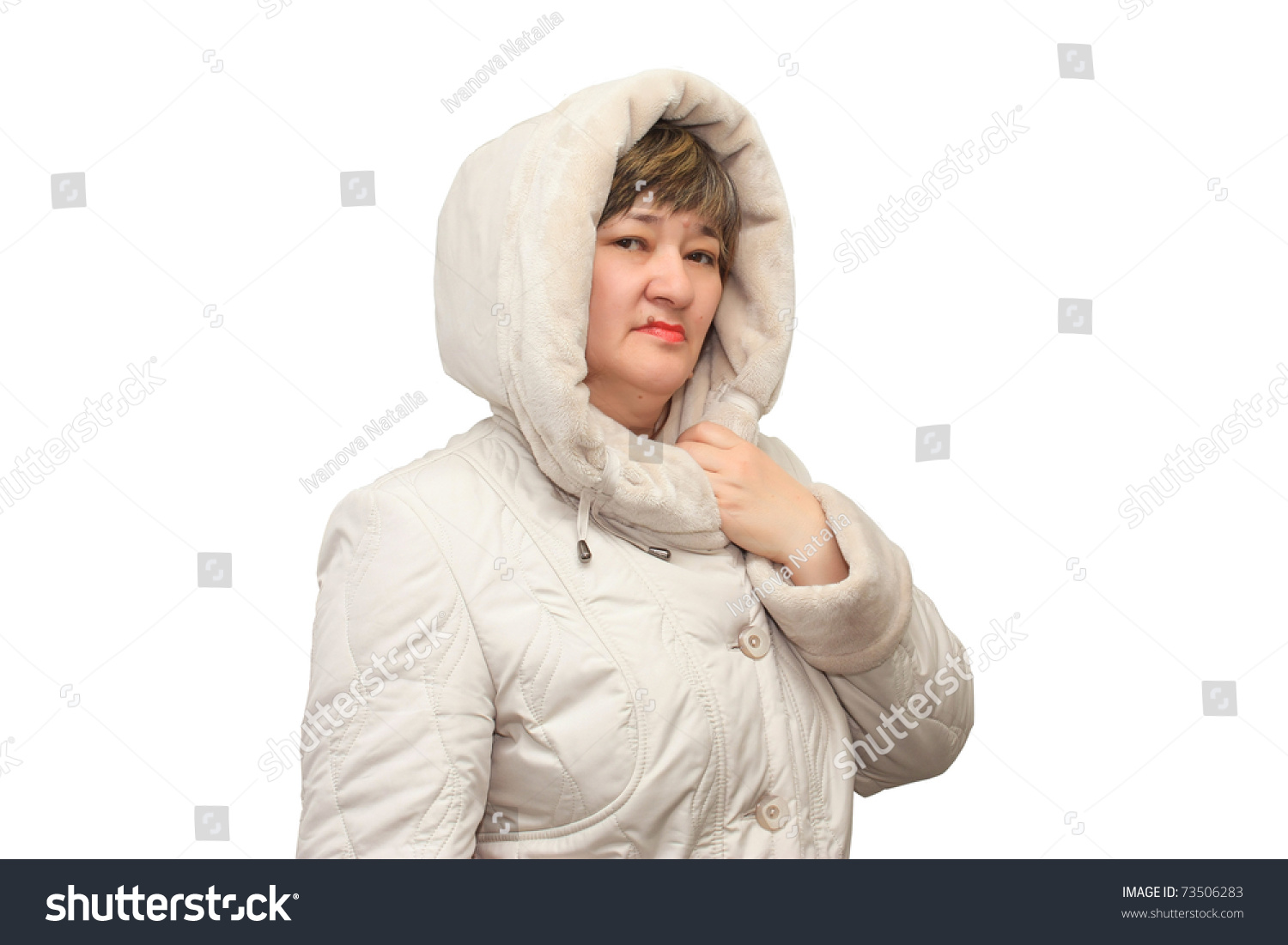 Woman Mature Age Cloak Stock Photo Edit Now 73506283 Shutterstock