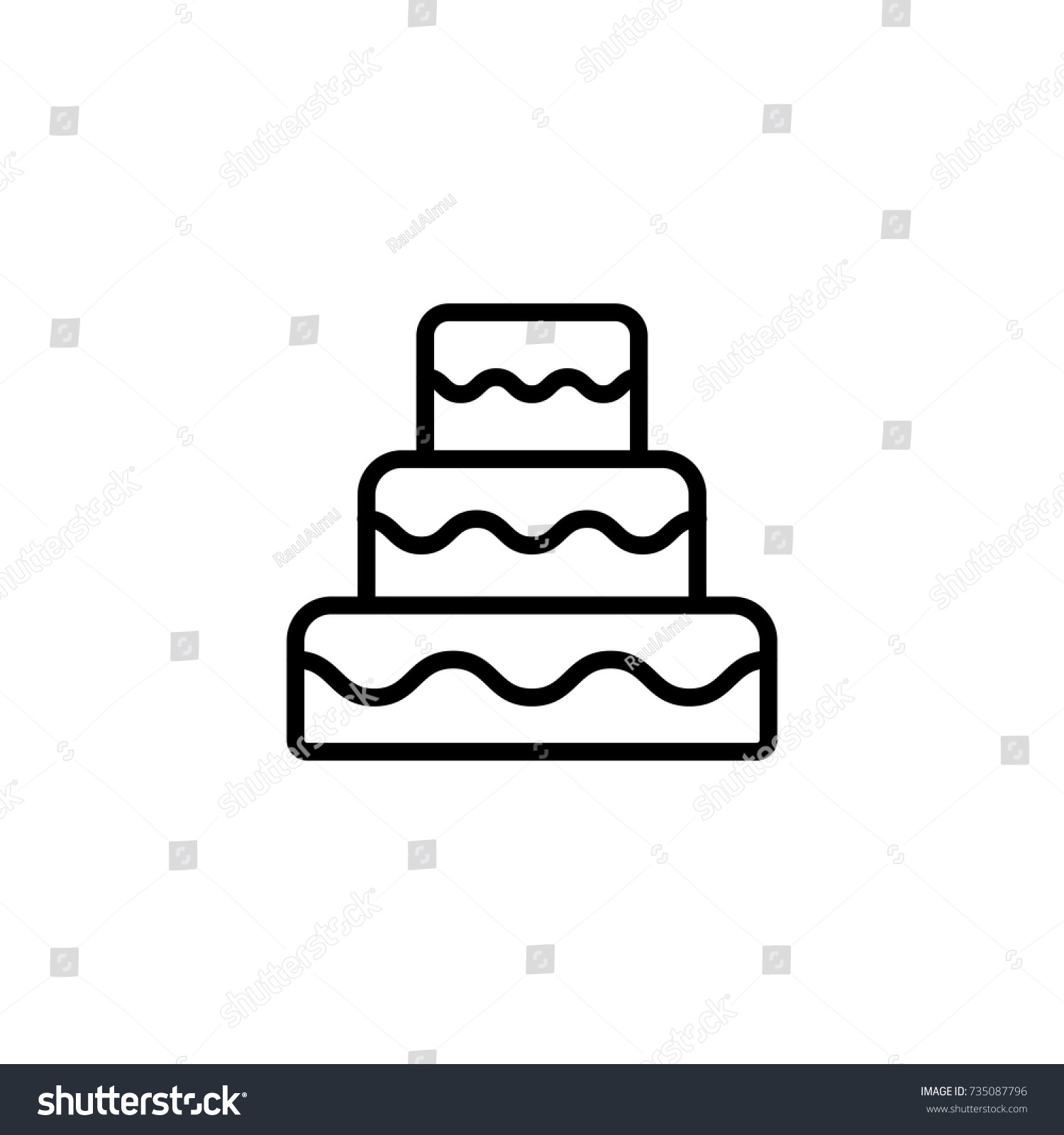 Wedding cake flat icon single high stock vector 735087796 shutterstock wedding cake flat icon single high quality outline symbol of wedding for web design or biocorpaavc Image collections