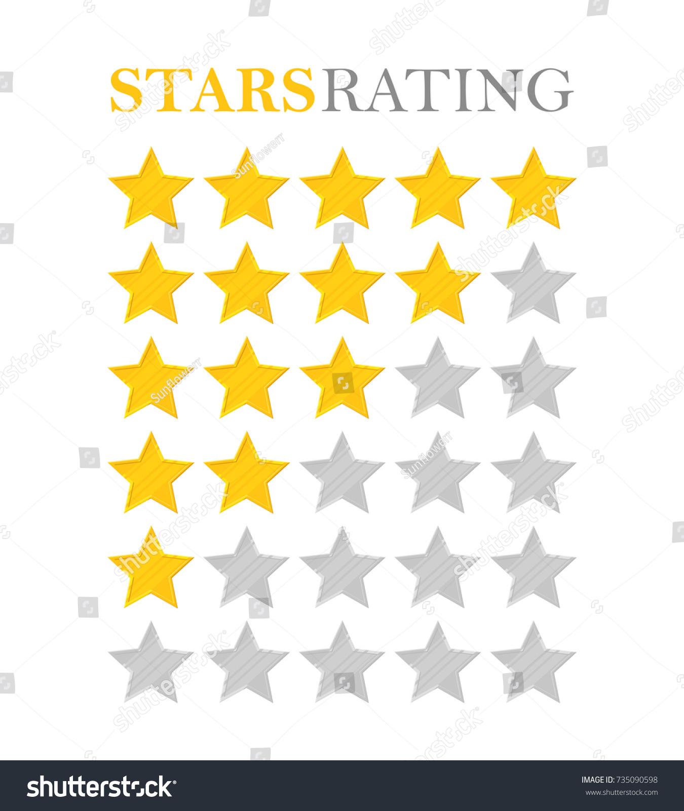Golden star rating five stars symbol stock vector 735090598 golden star rating five stars symbol of best quality high service victories biocorpaavc