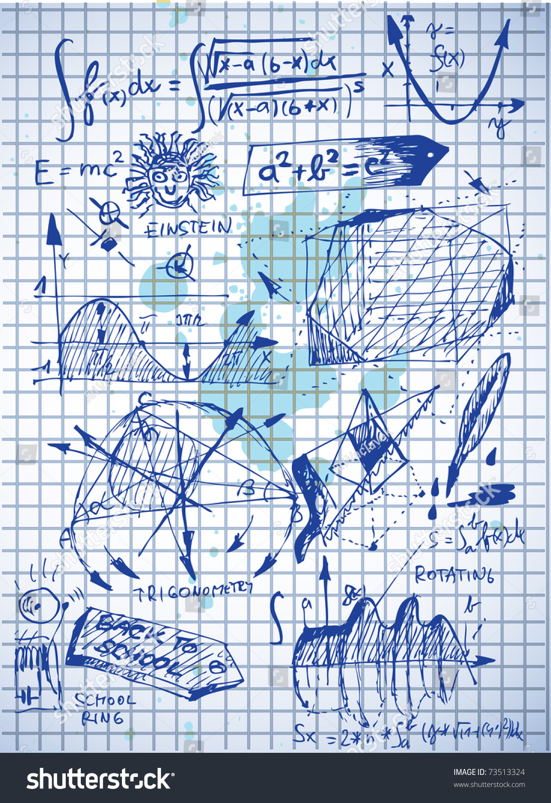 Math Problems On White Paper Stock Vector 73513324 - Shutterstock