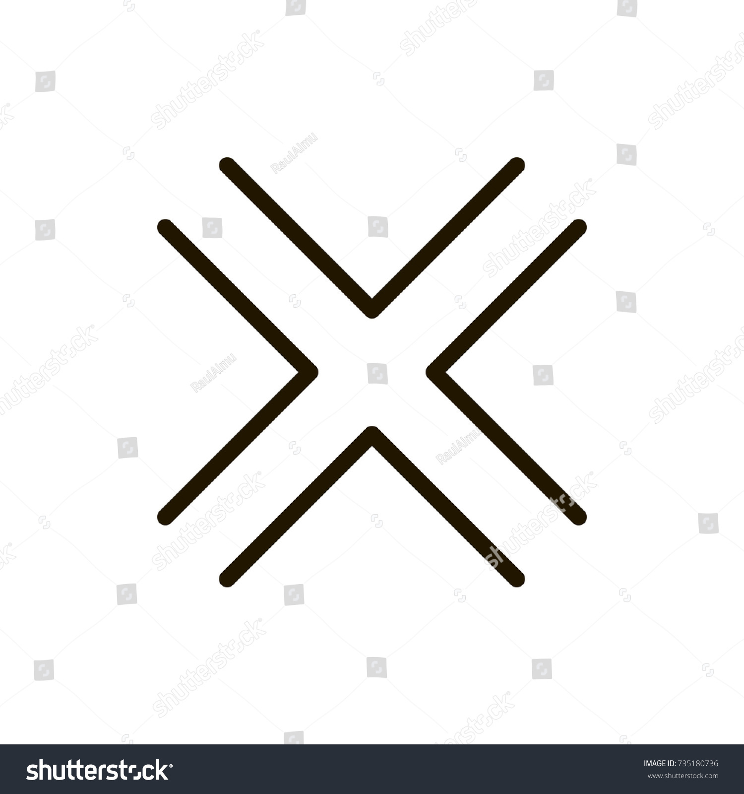 X mark icon flat icon single stock vector 735180736 shutterstock x mark icon flat icon single high quality outline symbol of info for web design buycottarizona