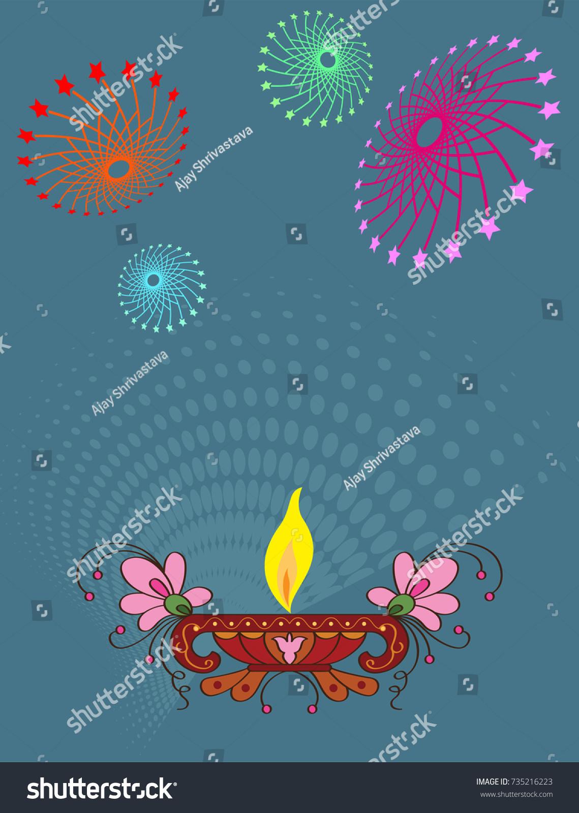 Diwali greeting design vector art stock vector 735216223 shutterstock diwali greeting design vector art m4hsunfo
