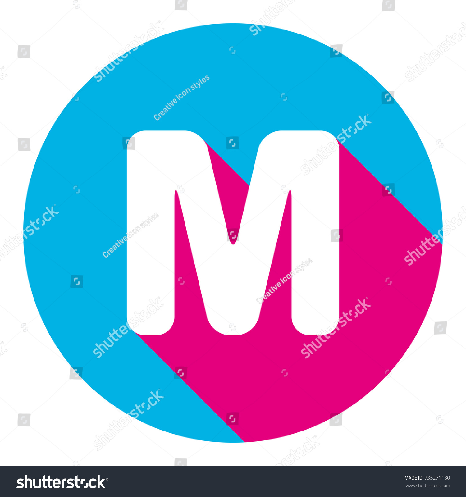 Letter M Sign Design Template Element Stock Vector (Royalty Free ...