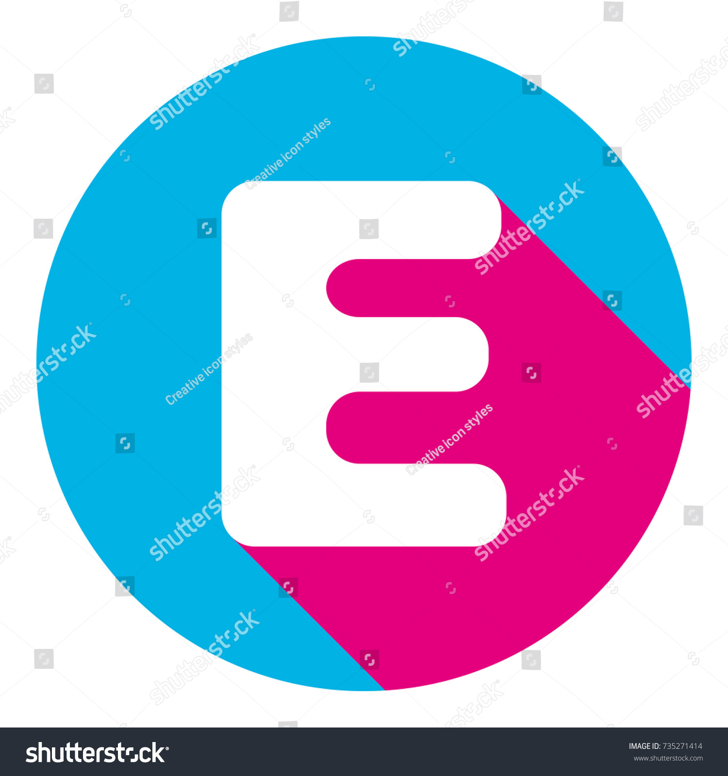 Letter E Sign Design Template Element Stock Vector (Royalty Free ...