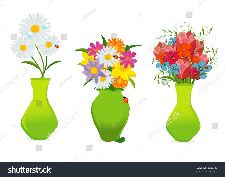 Фото нарисованных ваз с цветами