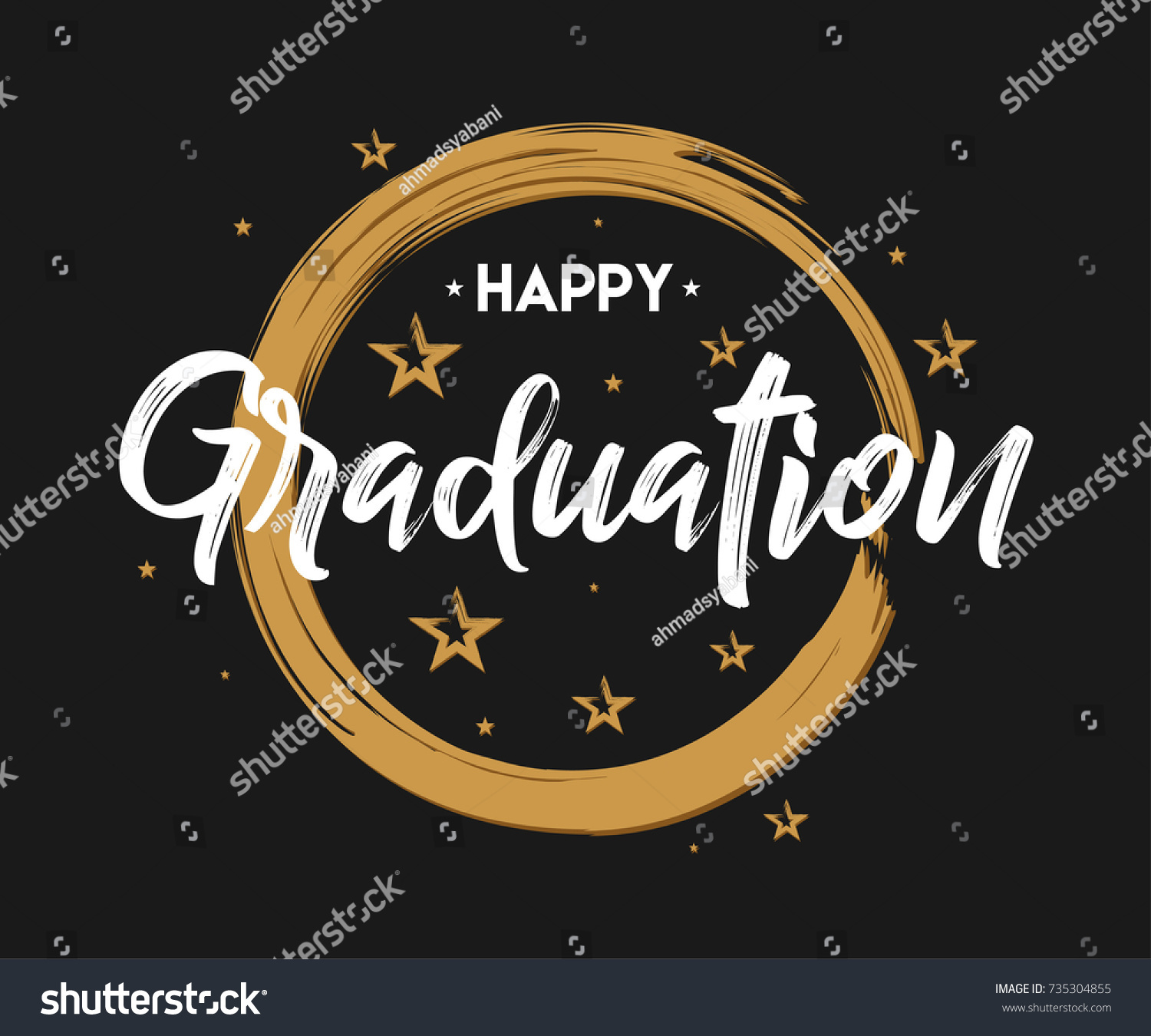 Happy Graduation Vintage Typography Grunge Handwritten Stock ...