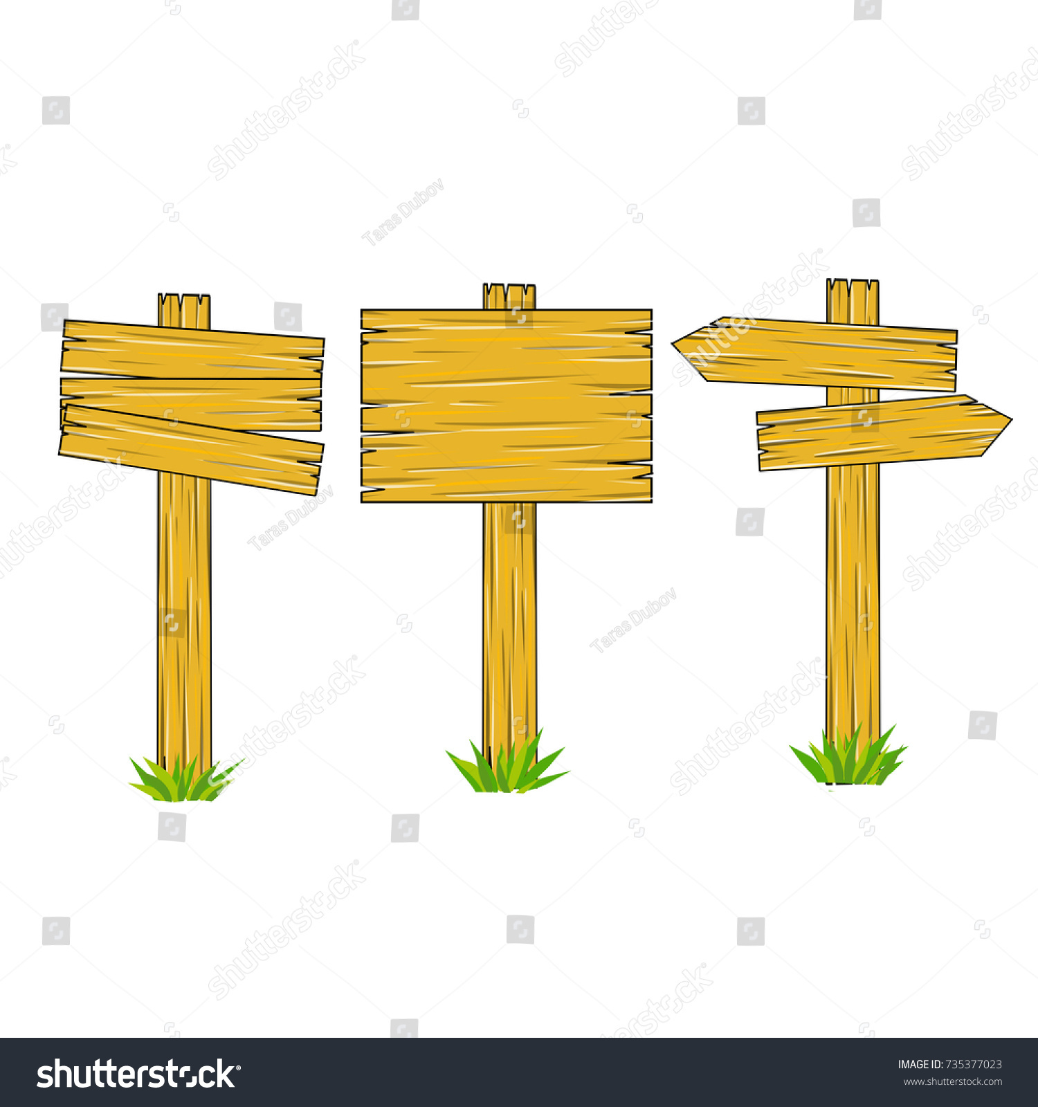 Cartoon wooden sign direction way index stock vector 735377023 cartoon wooden sign direction way index biocorpaavc Gallery