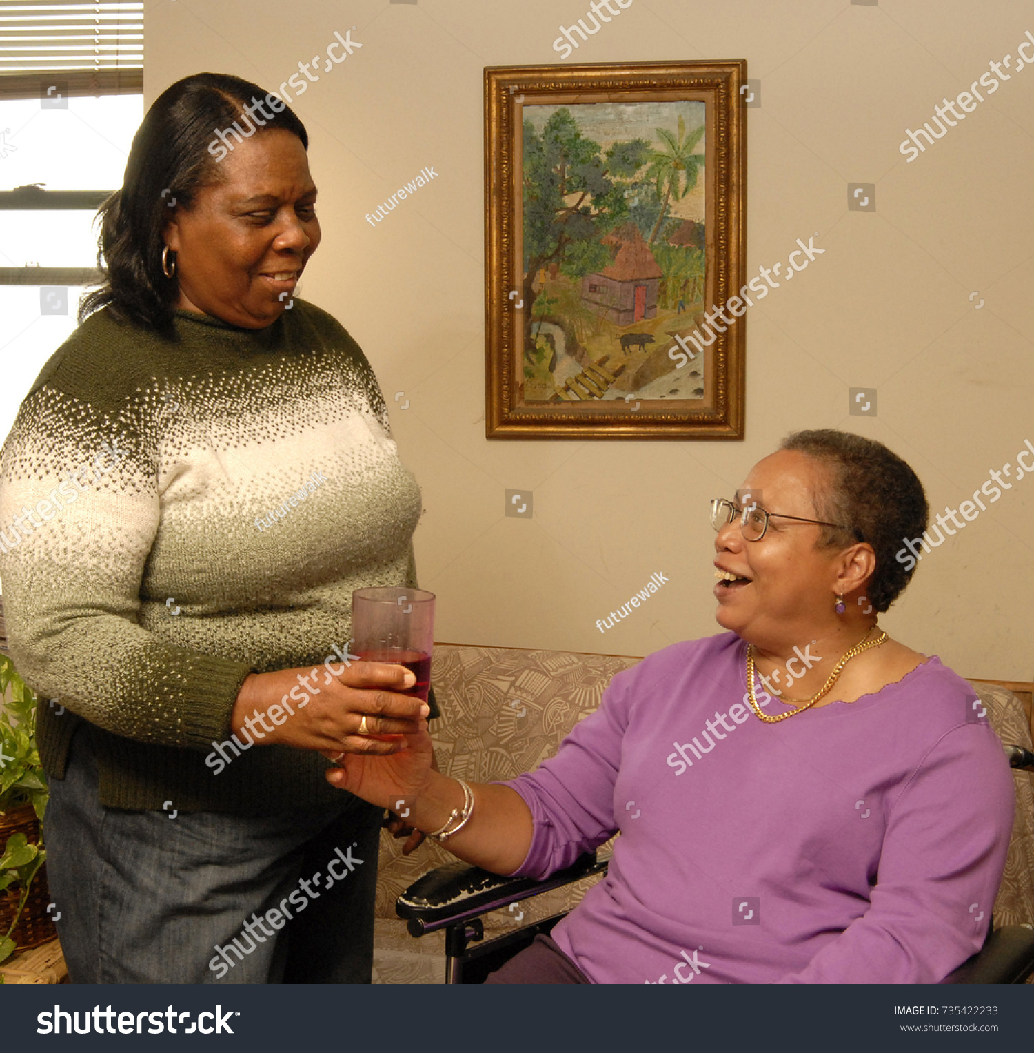 Home Health Care Aide On Our Stock Photo Edit Now 735422233