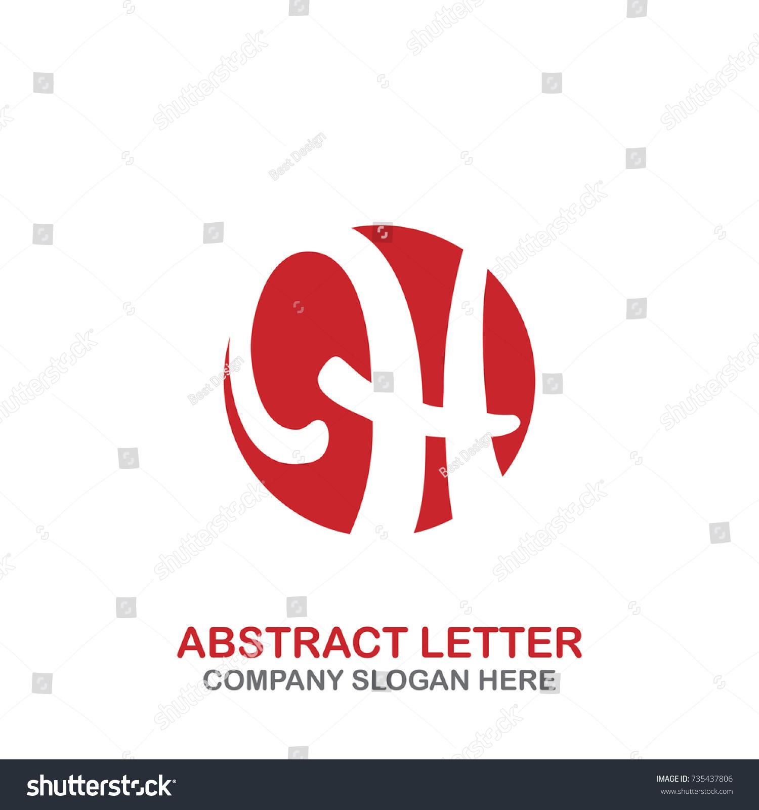 925cb3e70e Abstract Letter H Logo Circle Simple Stock Vector (Royalty Free ...