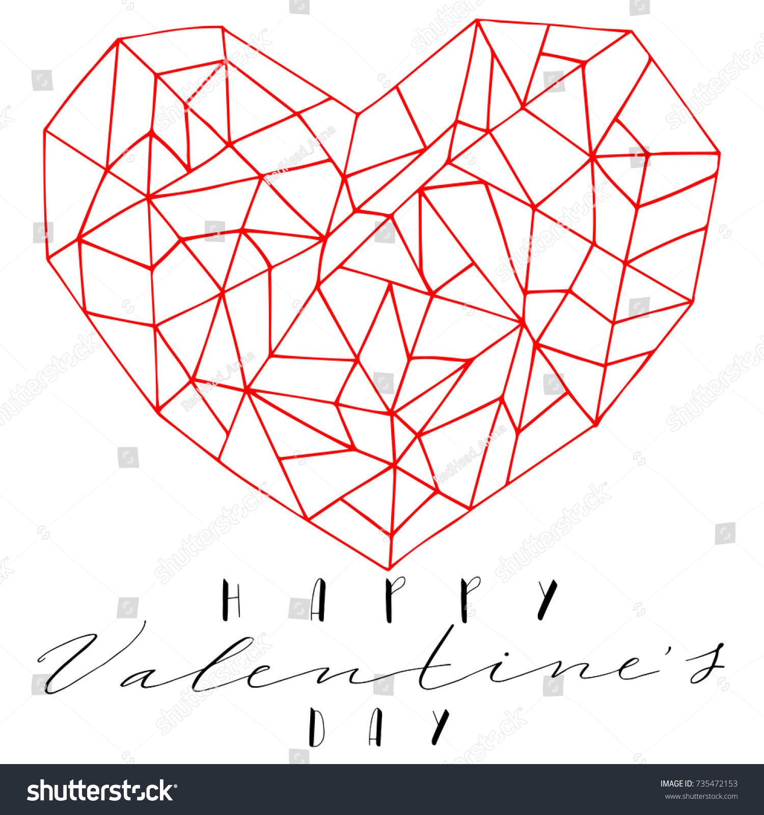 Drawing Heart Text Symbol Love Valentines Stock Photo Photo Vector