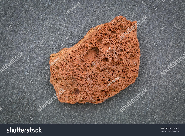 Scoria Igneous Rock Sample Against Gray Stock Photo Edit Now