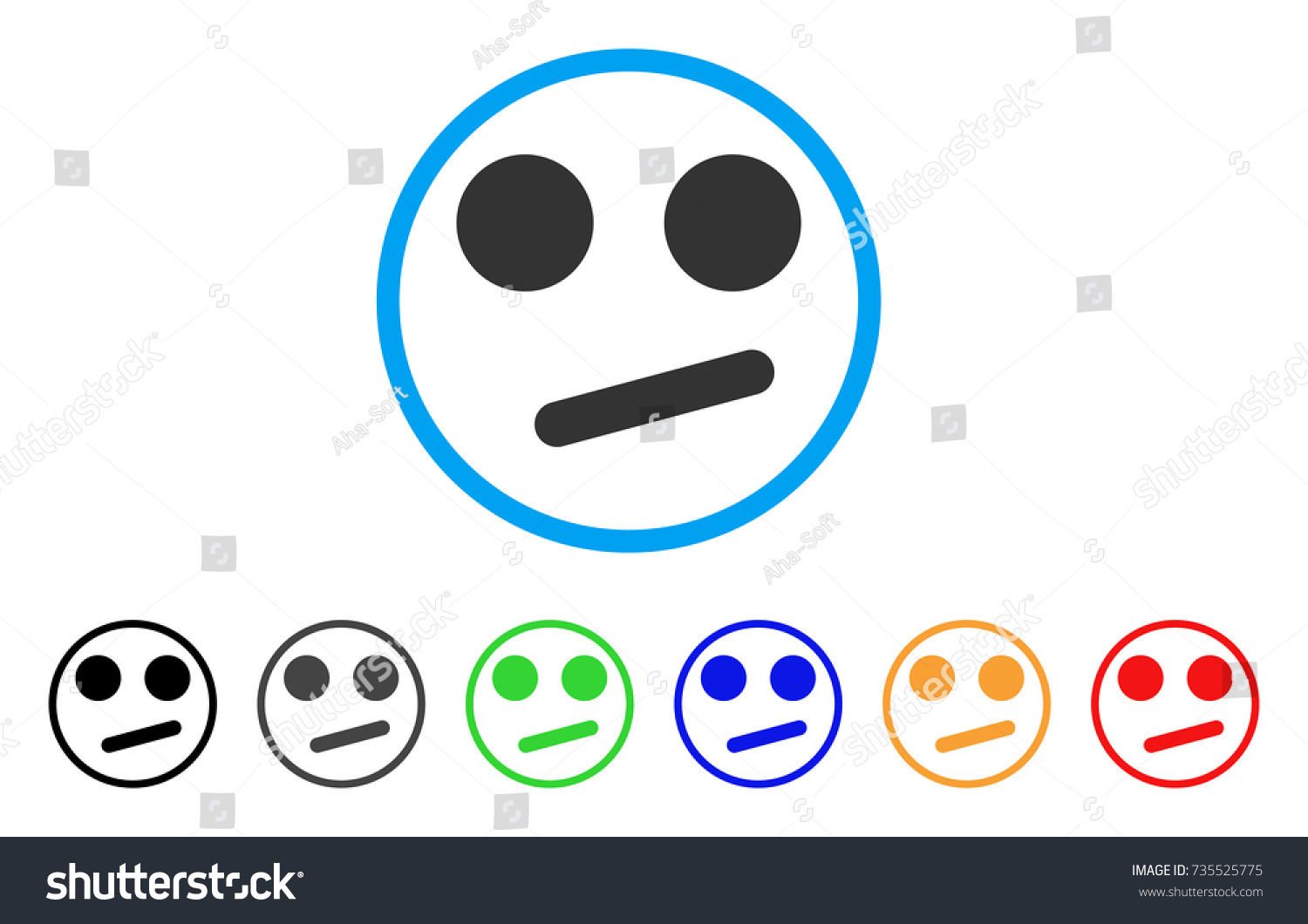 Indifferent smiley smile rounded icon style stock vector 735525775 indifferent smiley smile rounded icon style is a flat indifferent smiley smile grey symbol inside biocorpaavc Images