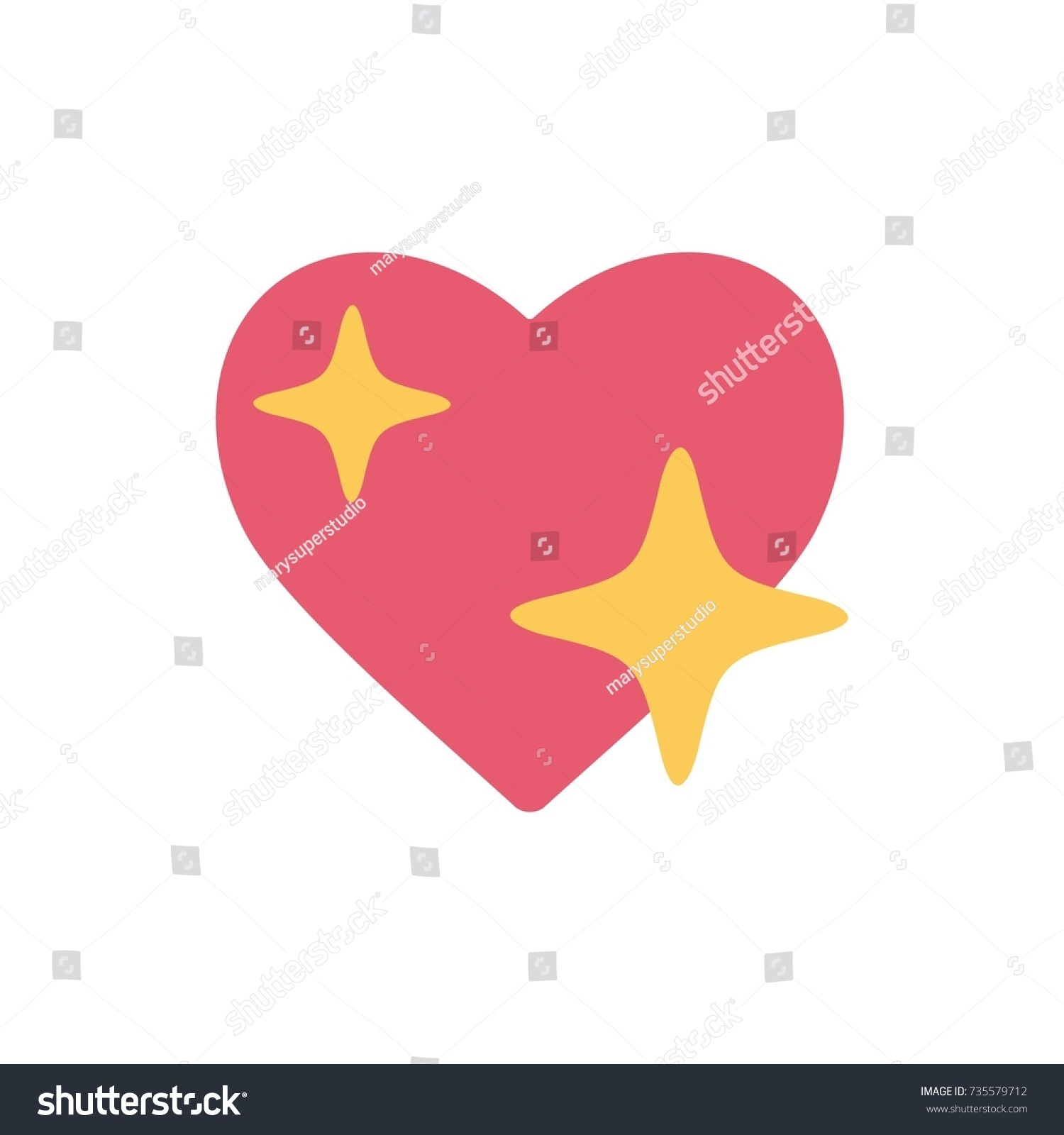 Iphone Shine Heart Emoji Sign Icon Stock Vector Royalty Free