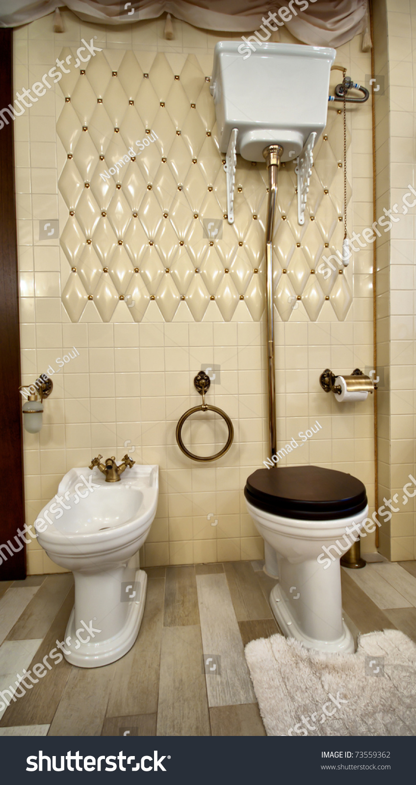 Interior Of Luxury Vintage Bathroom In Resort Apartment Stock - Luxury apartments bathrooms