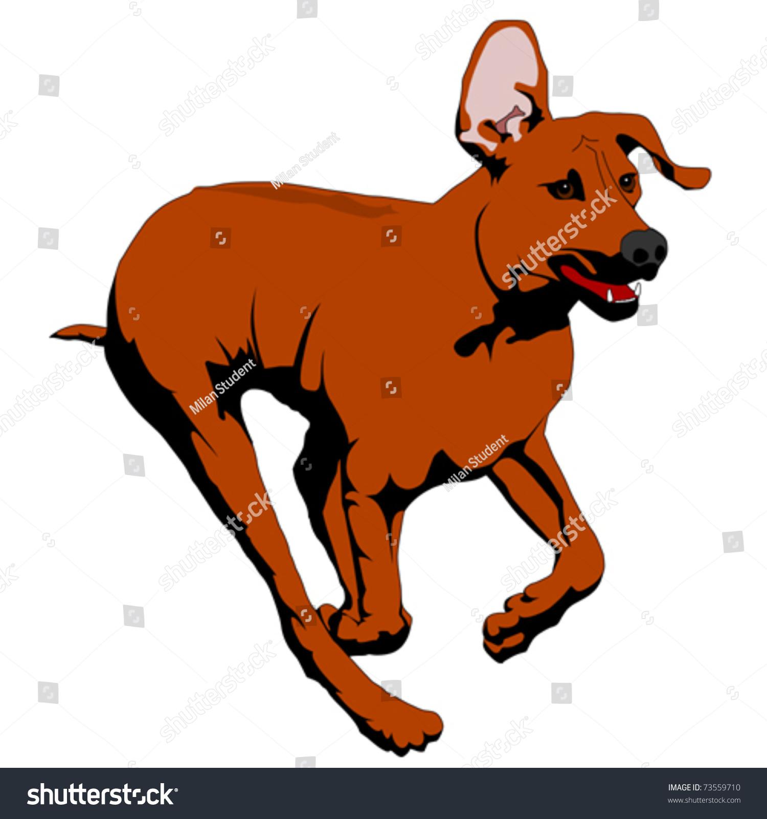 Cartoon dog stock photos images amp pictures shutterstock - Rhodesian Ridgeback Running Vector