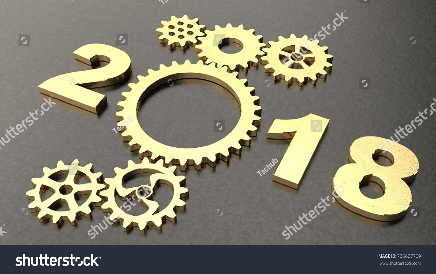 2018 metal brushed metal surface symbol stock illustration 2018 metal brushed metal surface a symbol of aging with golden gears reducer biocorpaavc Gallery