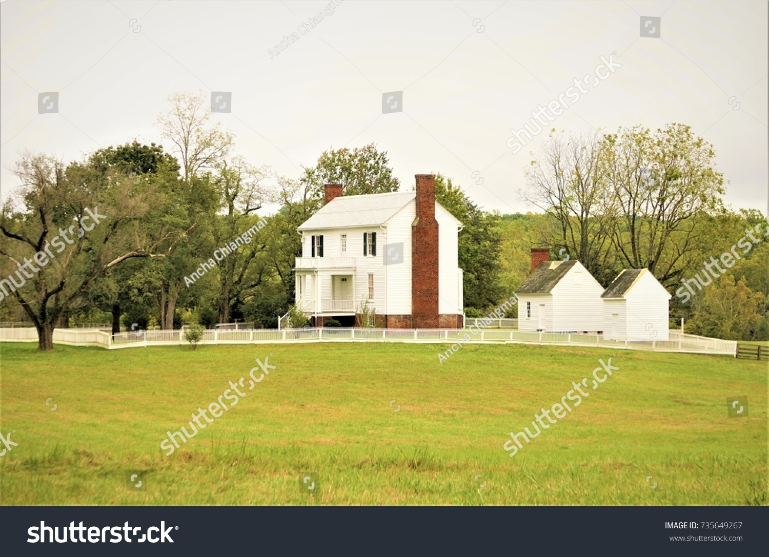 Beautiful Antique House Nice Garden Trees Stock Photo Edit Now