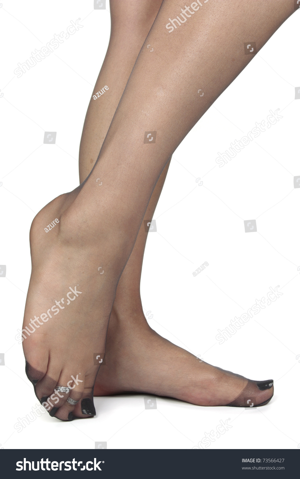 Woman Legs Feet Tights Stock Photo Edit Now 73566427 Shutterstock