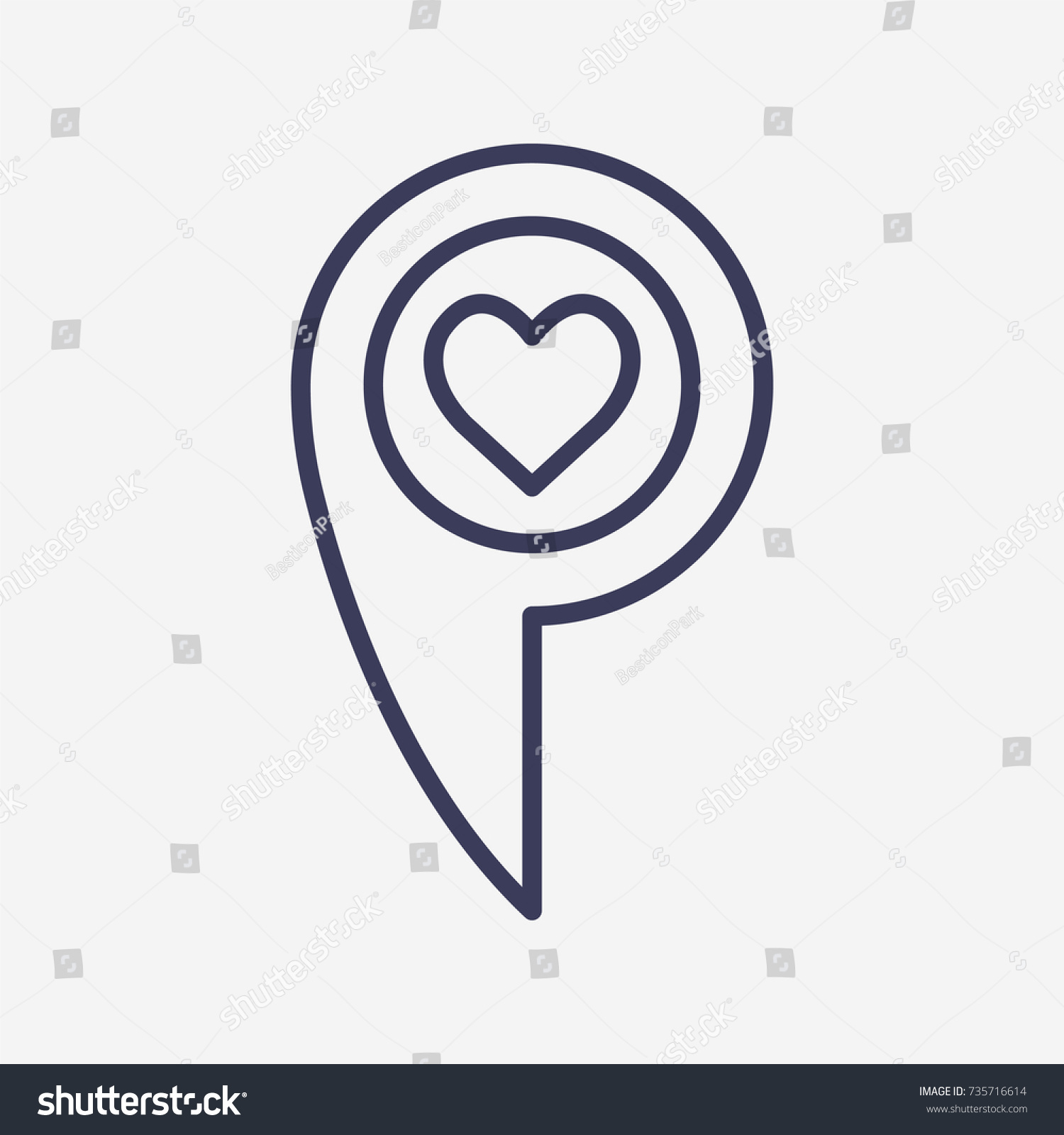 Outline heart icon illustration vector symbol stock vector outline heart icon illustration vector symbol stock vector 735716614 shutterstock buycottarizona Image collections
