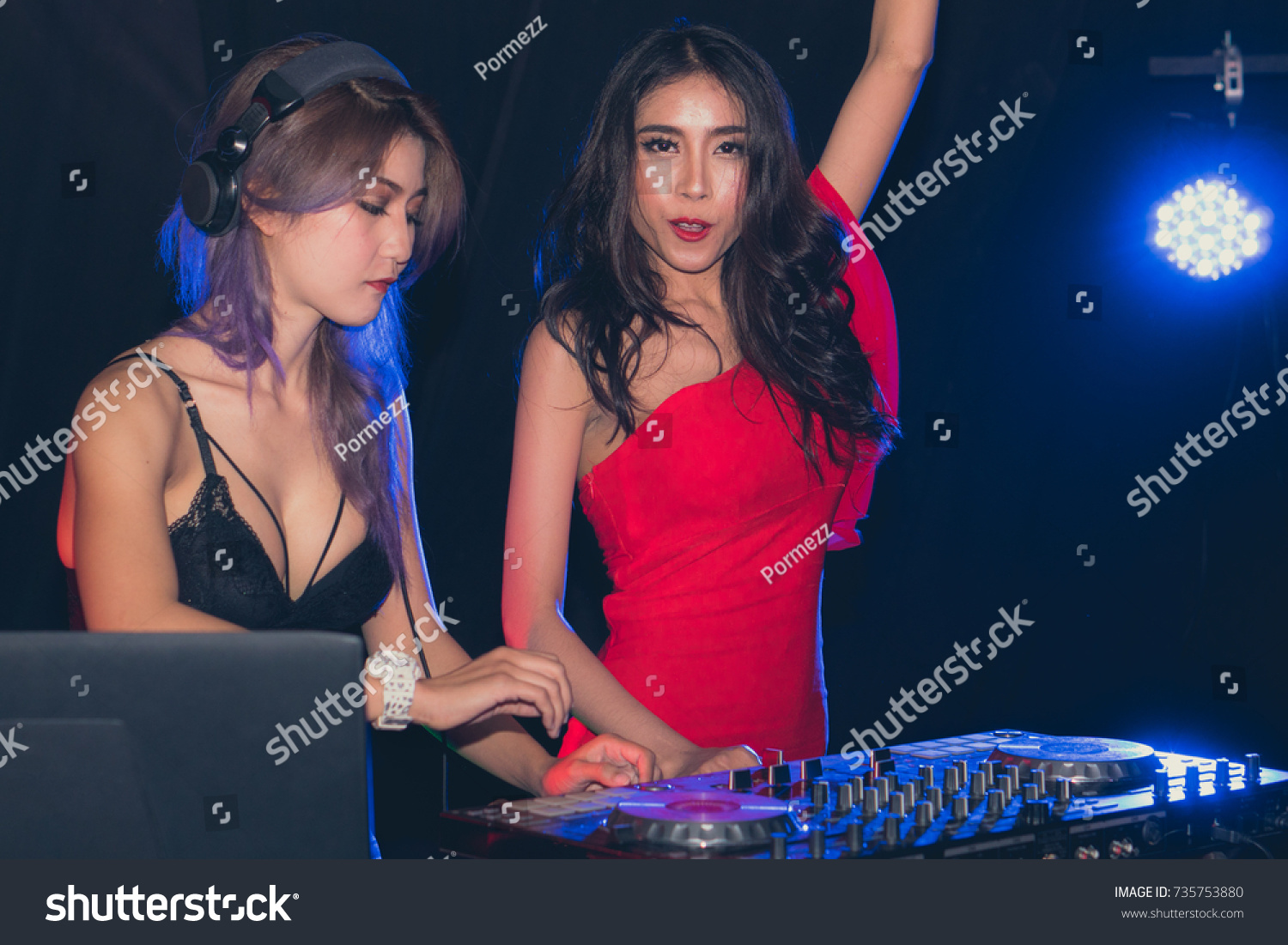 Girl Nightlife Party Dance Dj Asian Stock Photo (Edit Now
