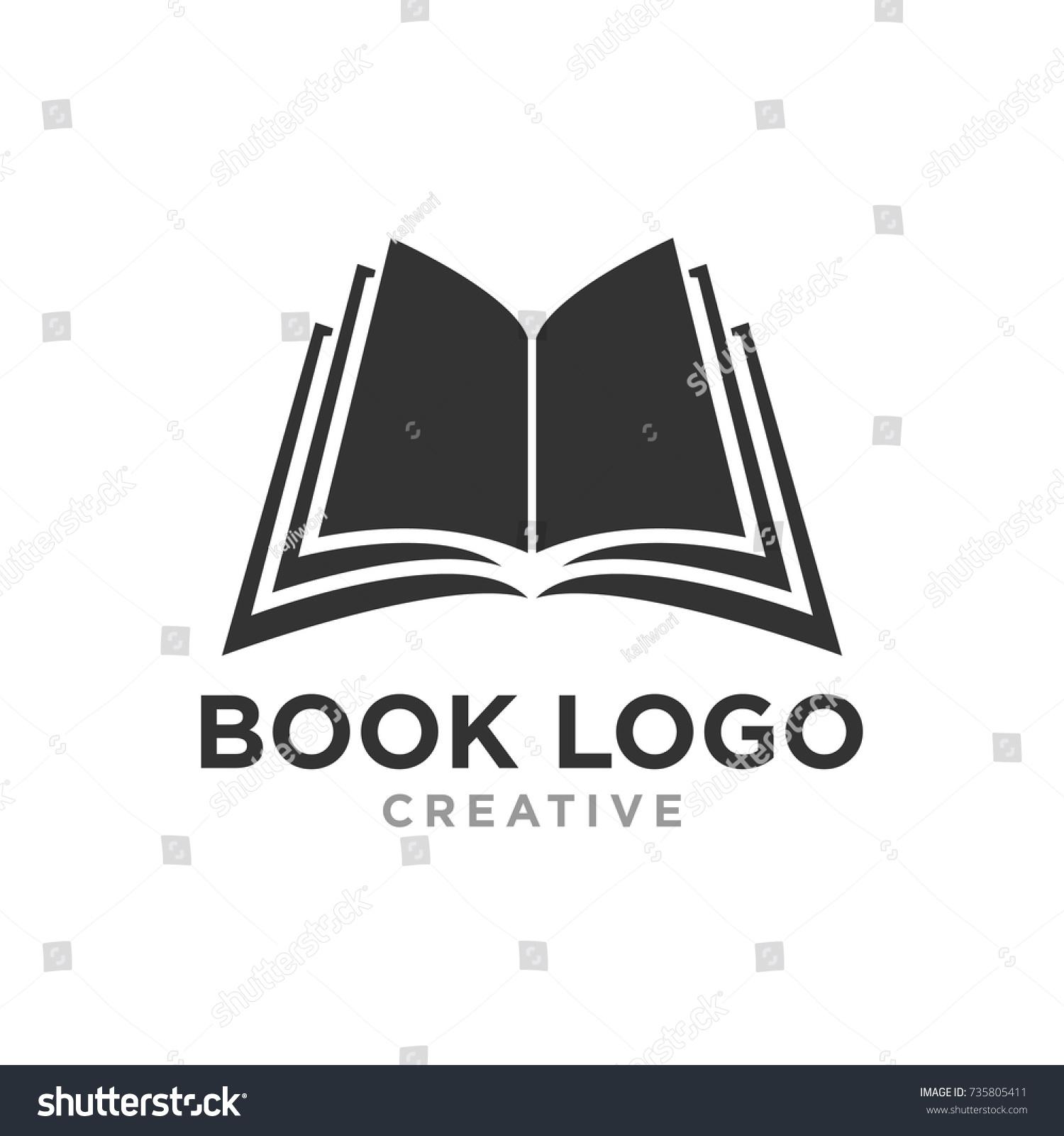 Creative Book Logo Design : Logo design book clever logos with hidden symbolism