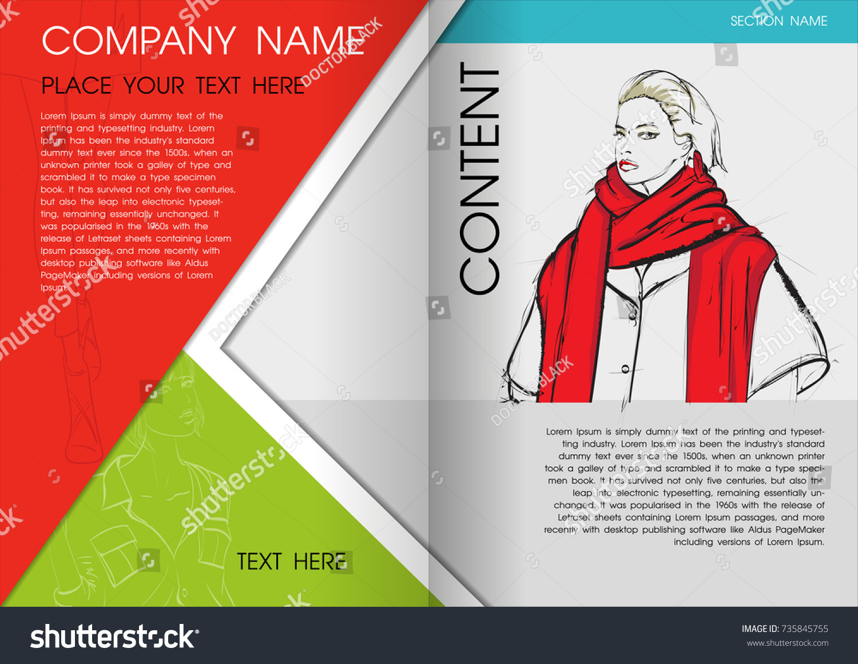 Minimal Flyers Report Fashion Magazine Brochure Stock Vector ...