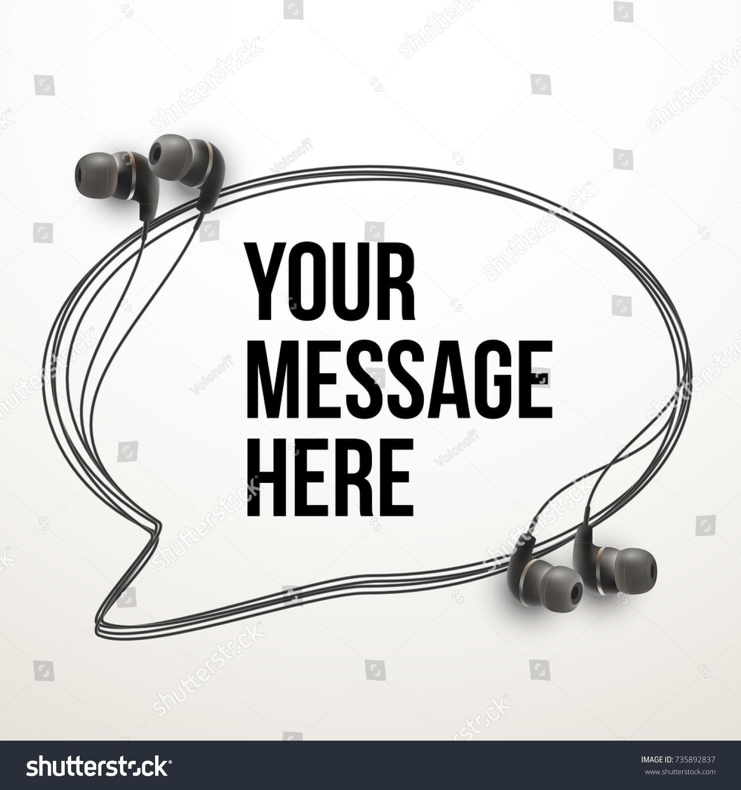 Innovative Vector Music Quotation Template Headphones Stock Photo ...