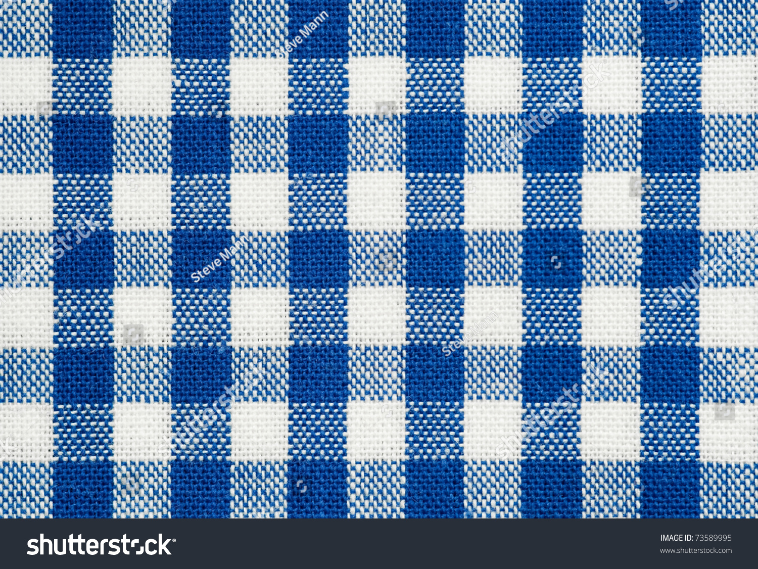 Blue tablecloth background - Background Of Blue And White Check Picnic Tablecloth Fabric