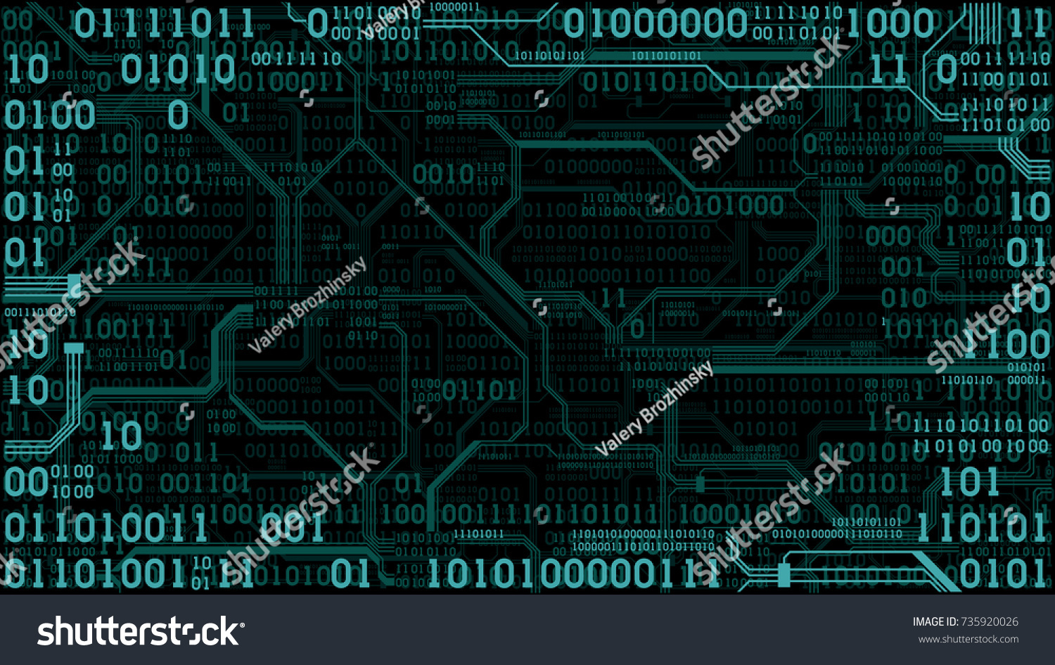 Abstract Futuristic Electronic Circuit Board Binary Stock Vector Abstact Background With And Code Images Computer Digital Technology Frame