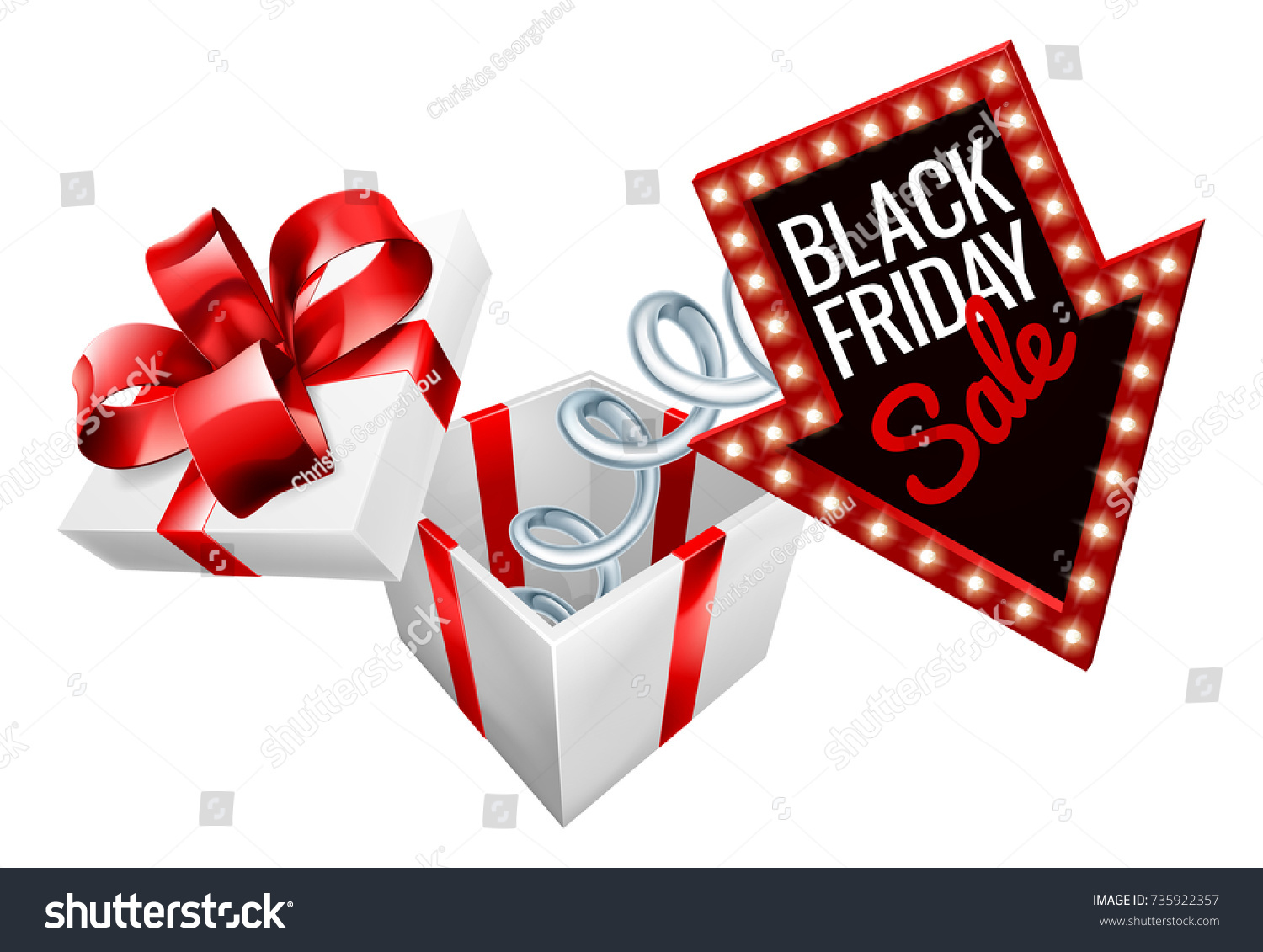 Jack Box Black Friday Sale Sign Stock Vector 735922357 - Shutterstock