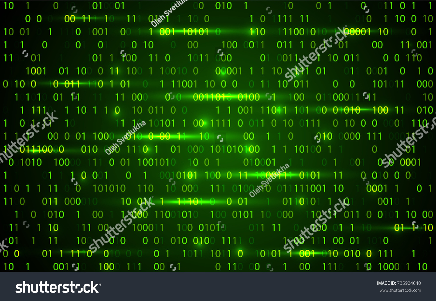 Abstract Technology Binary Code Background Digital Binary Stock