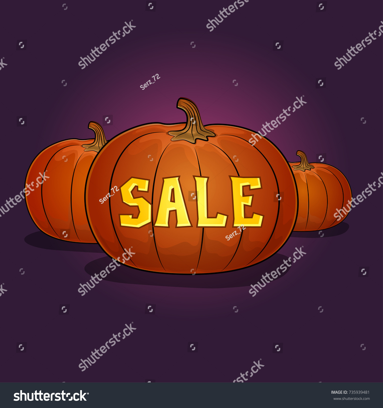 halloween sale poster pumpkins discounts holiday stock illustration