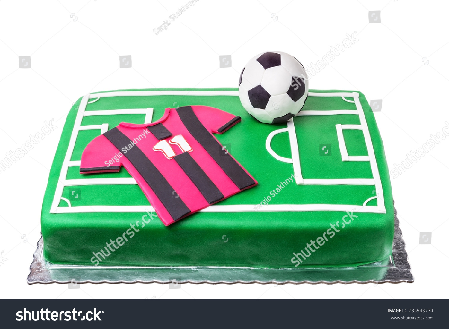 Birthday Cake Football Player Football Field Stock Photo Edit Now