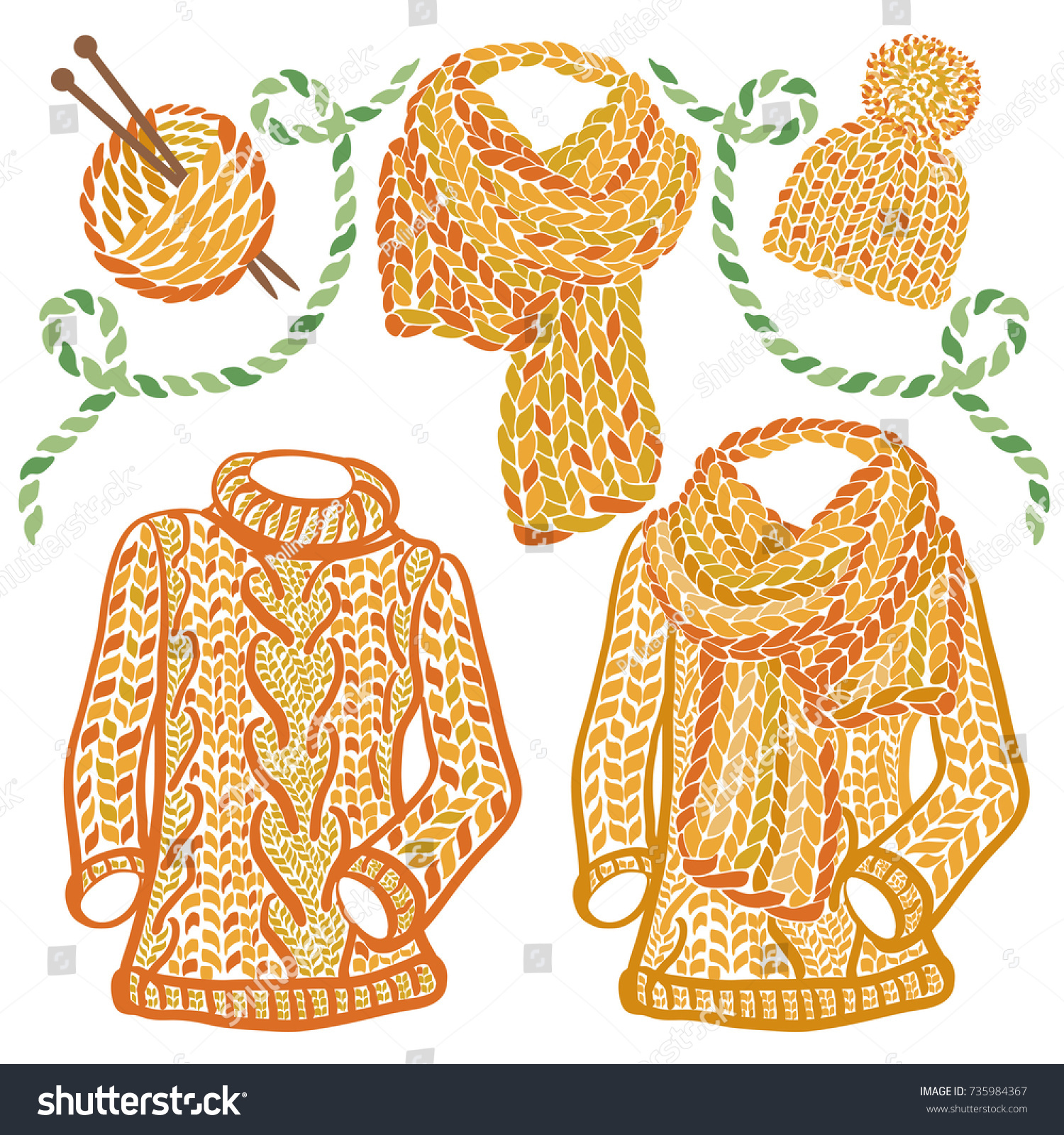 Handknitted Sweater And Yarn Ball Stock Illustration - Download Image Now -  iStock