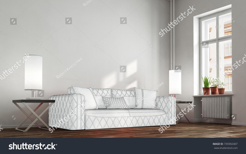 Buy Sofa Decision Concept Living Room Stock Illustration 735992407 ...