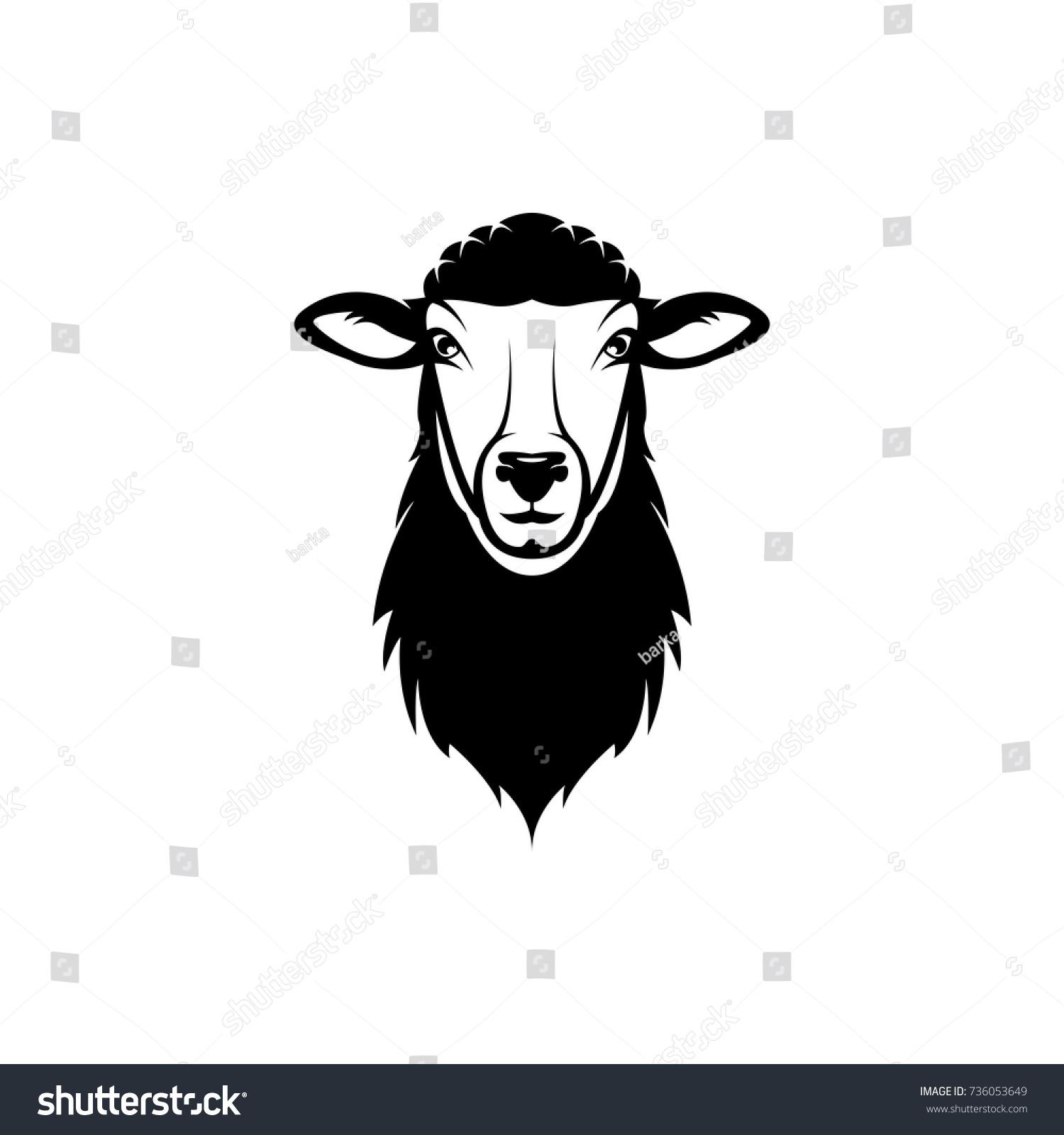 Vector Sheep Head Face Retro Logos Stock Vector HD (Royalty Free ...