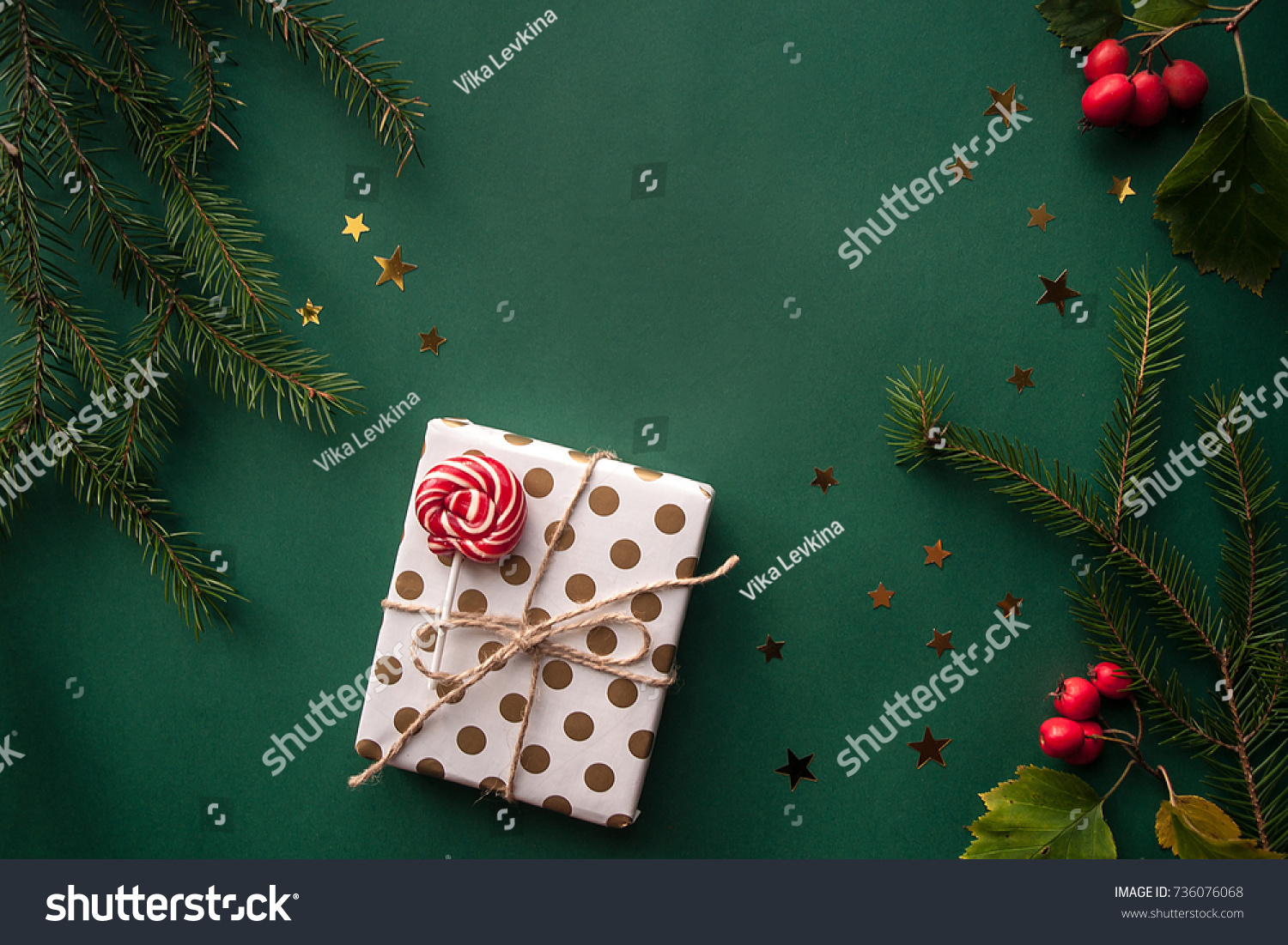 Onew Years Background On Desk Decorated Stock Photo (Royalty Free ...