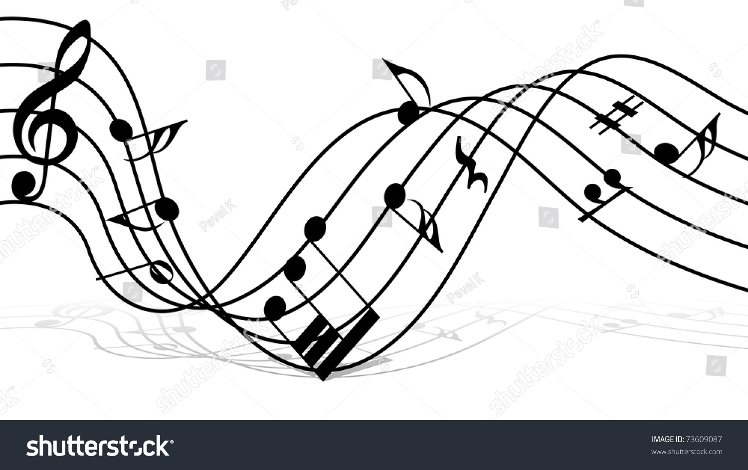 Musical notes staff background design use stock for The craft of musical composition