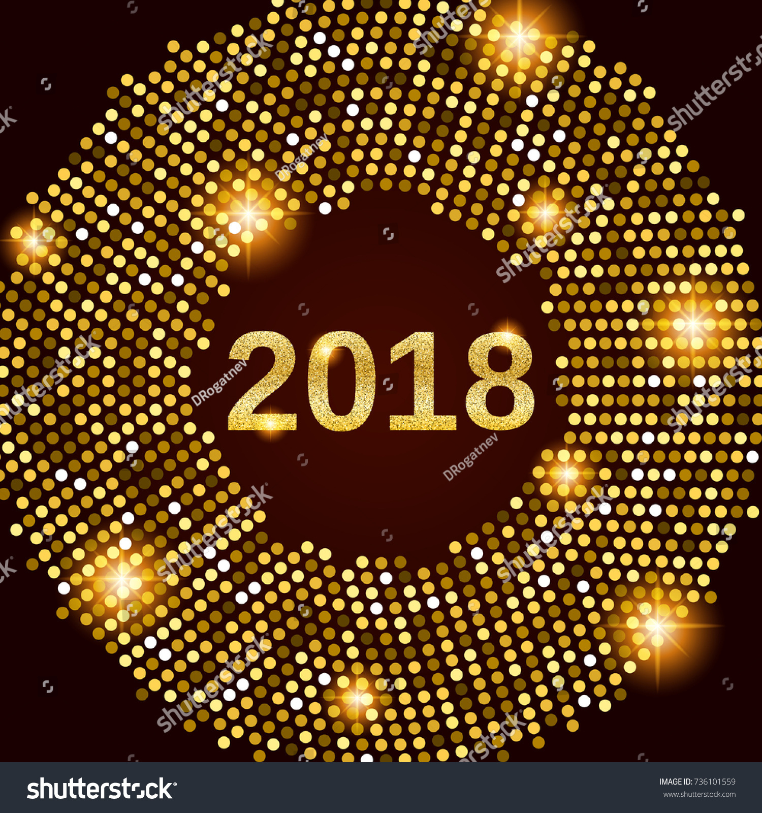 new year 2018 celebration background happy new year gold glitter type on black background with