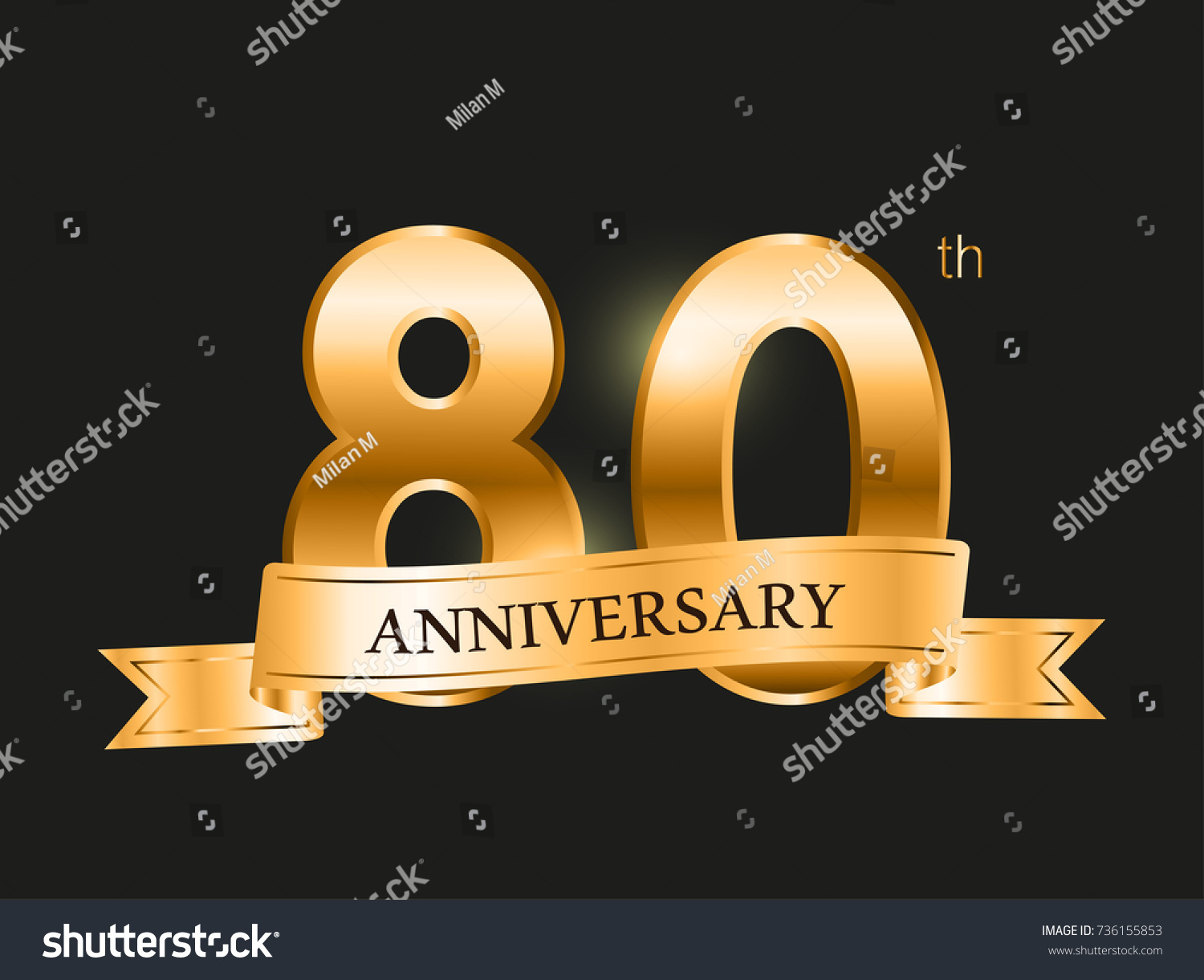 Years anniversary set of vector logo icon number th